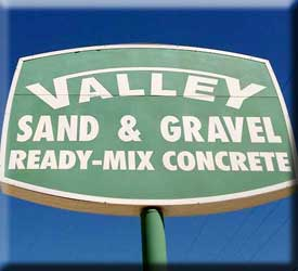 Services at Valley Sand and Gravel